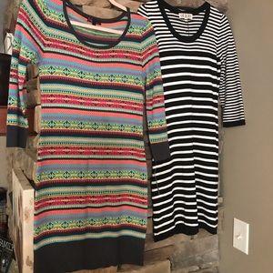 2 Sweater dresses, 3/4 sleeve, VERY cute